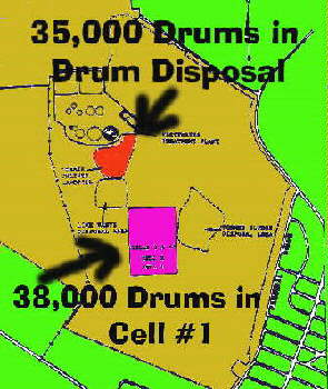 Drum Disposal Areas