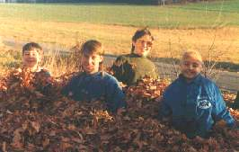 Mike, far right, with his brothers ,11/91